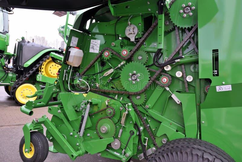 John Deere ciągników silnik zdjęcie royalty free