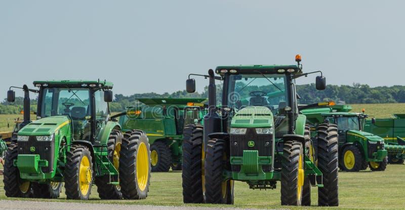 John Deere Farm Tractors. And equipment stock images