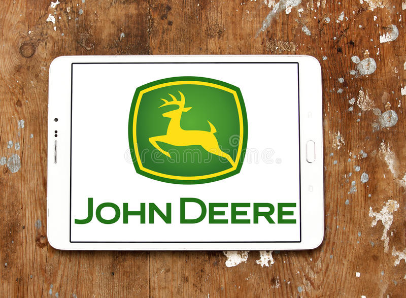 John deere logo obrazy stock