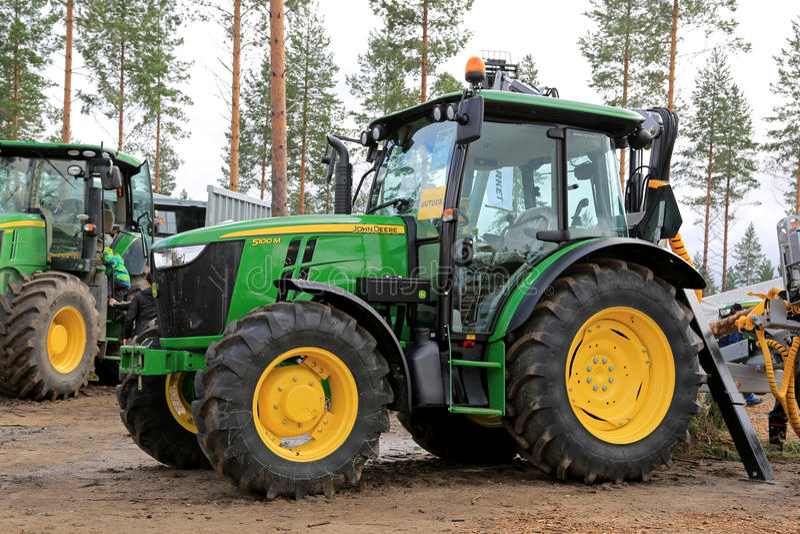John Deere 5100M Utility Tractor stock images