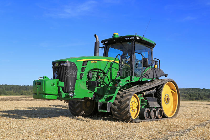 John Deere 8345RT Tracked Tractor on Field stock images