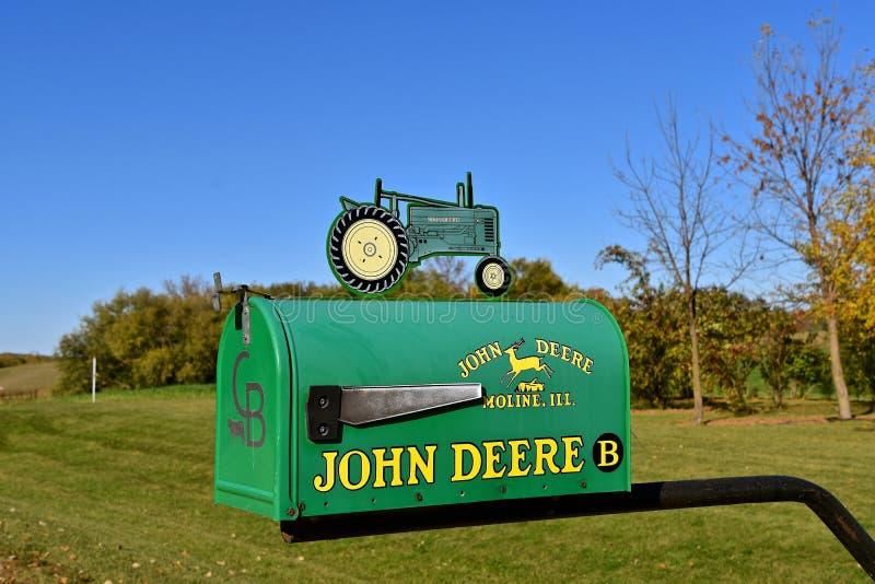 John Deere skrzynka pocztowa obrazy royalty free