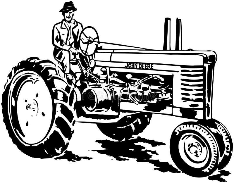 John Deere Tractor stock illustration