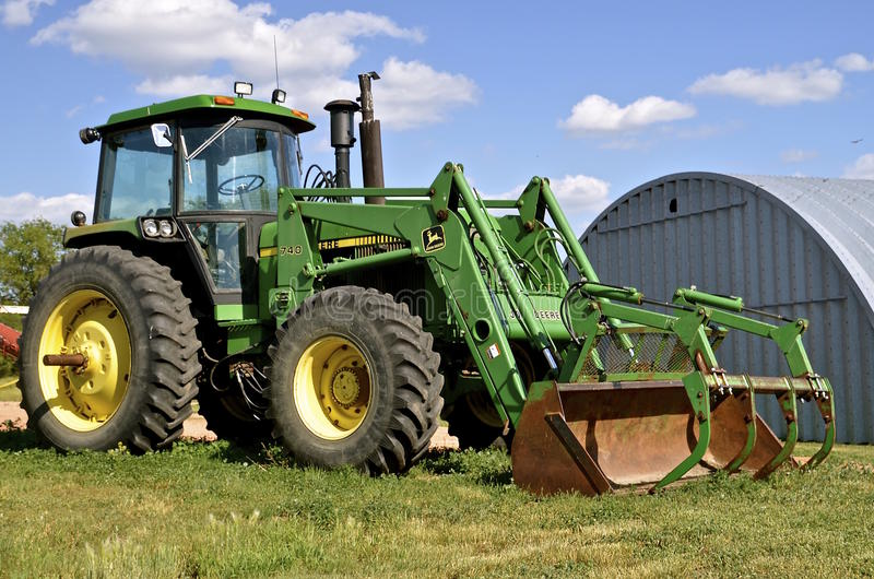 John Deere 740 tractor stock photo