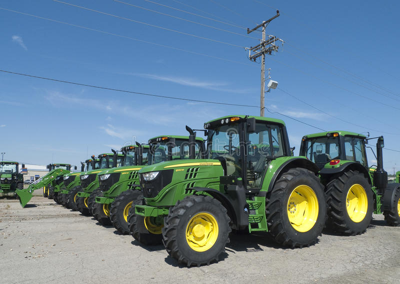 John Deere Tractors royalty-vrije stock afbeeldingen