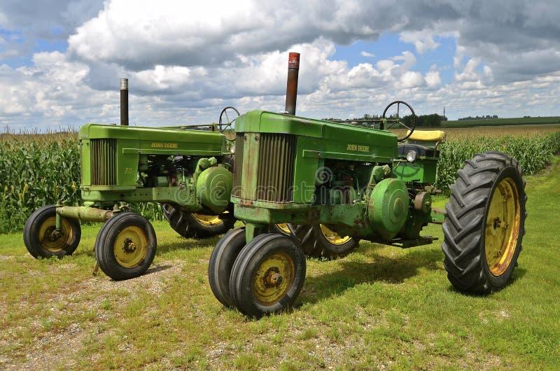 John Deere 70 traktorer fotografering för bildbyråer