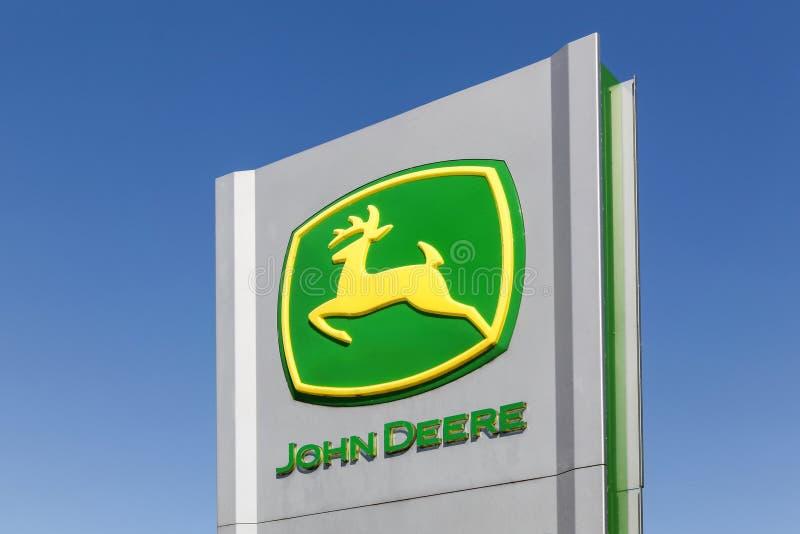 John Deere znak na panelu zdjęcia royalty free