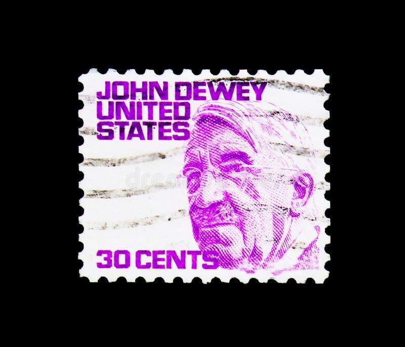 John Dewey, Beroemde Amerikanen serie, circa 1968 stock afbeeldingen