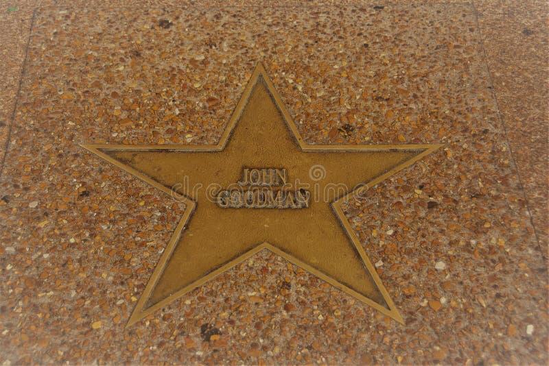 John dobrego człowieka gwiazda, St Louis sława spacer zdjęcie stock