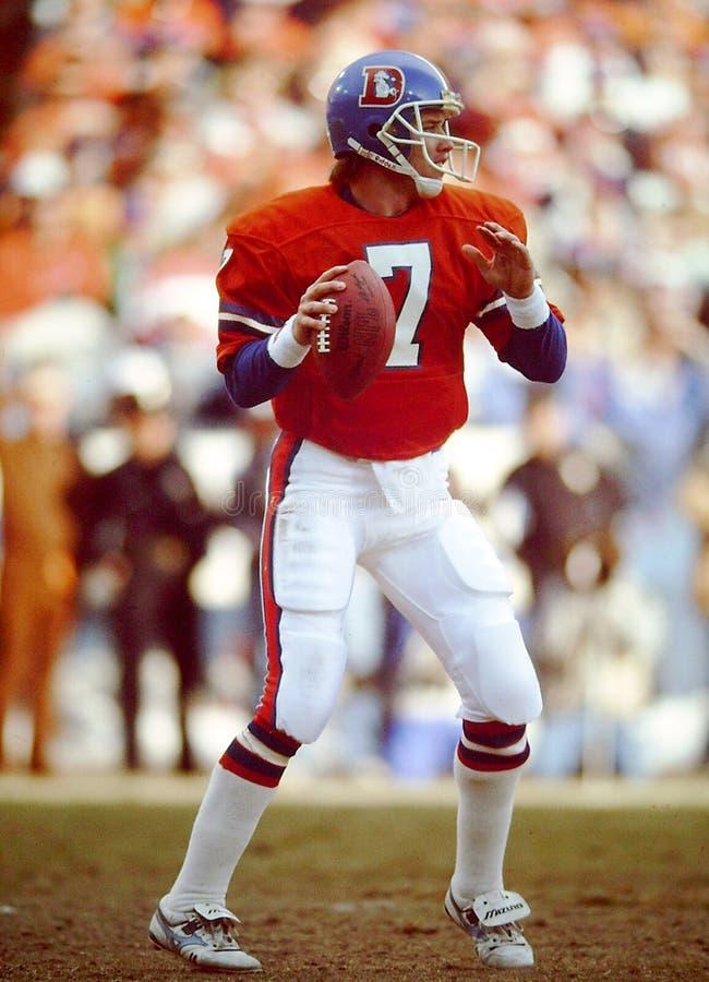 John Elway Denver Broncos stock image