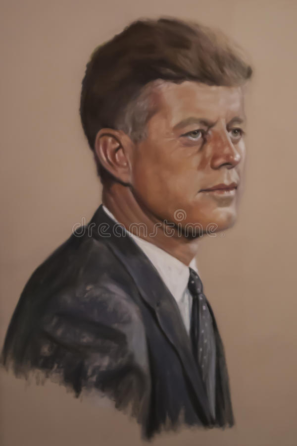 John F kennedy images stock