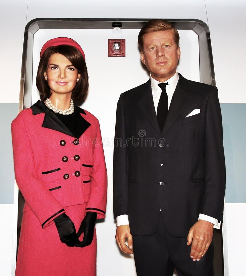 John F. Kennedy ed e Jacqueline Kennedy immagini stock libere da diritti