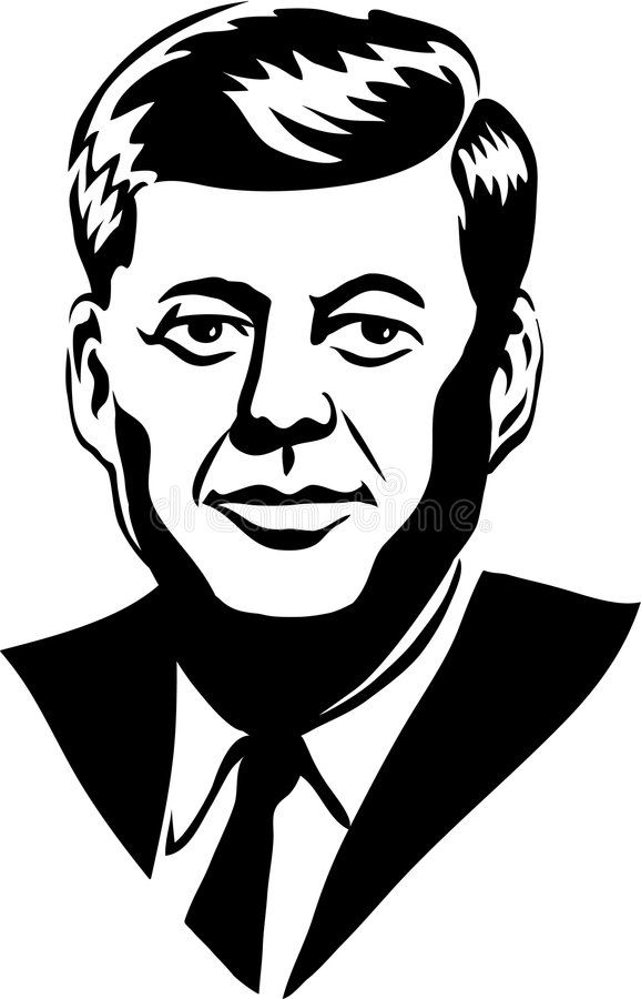 John F. Kennedy/eps. Illustration of famous American president, John F. Kennedy