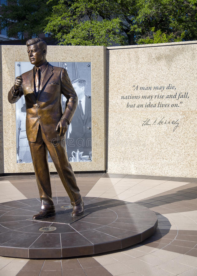 John F Kennedy Memorial in Fort Worth, TX stock photo