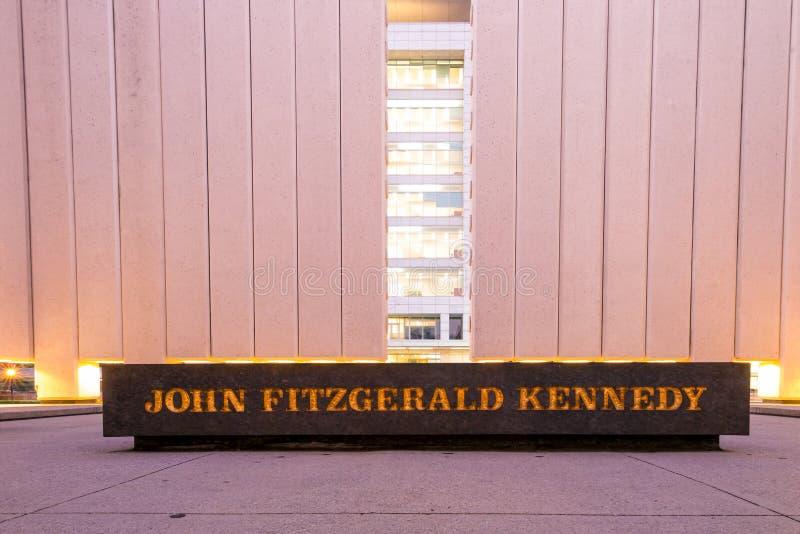 John F Kennedy Memorial Plaza à Dallas image stock