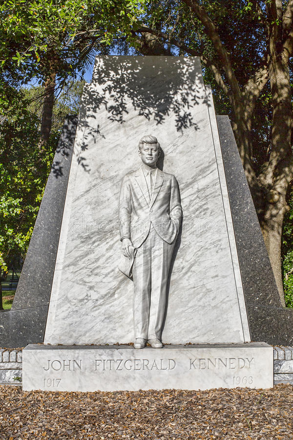 John F Kennedy Memorial Statue fotos de archivo
