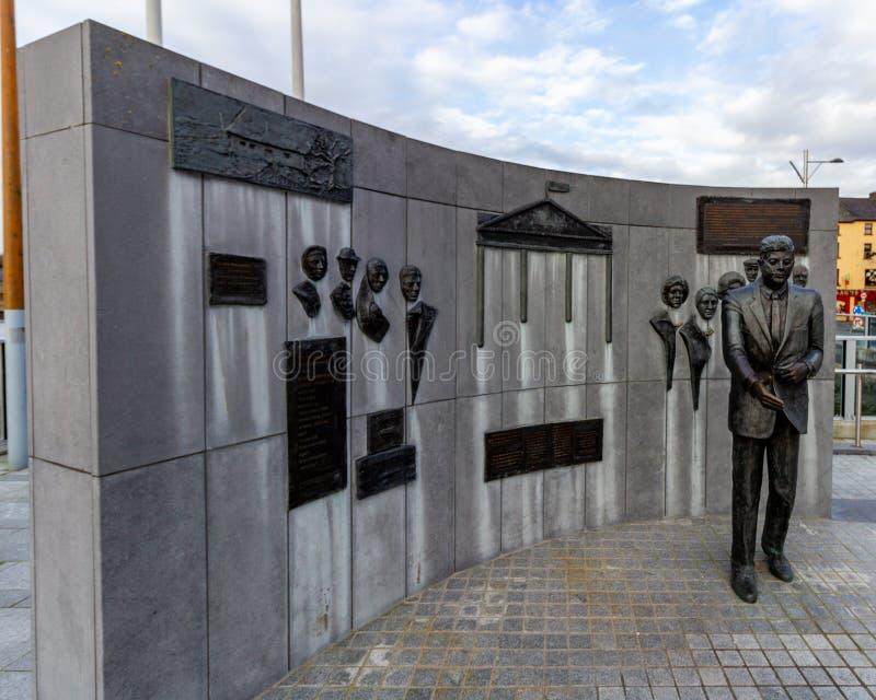 John F Kennedy pomnik nowy Ross Irlandia, Styczeń - 22, 2019 - zdjęcia royalty free