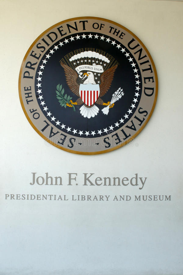 John F Kennedy Presidential Library stock afbeeldingen