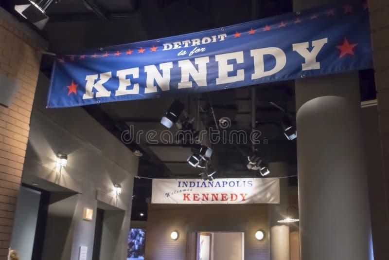 John F Kennedy Presidential Library royalty-vrije stock afbeelding