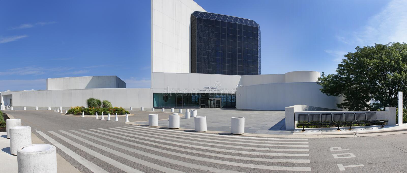 John F Kennedy Presidential Library. The John F. Kennedy Presidential Library and Museum is the presidential library and museum of John Fitzgerald Kennedy, the royalty free stock images