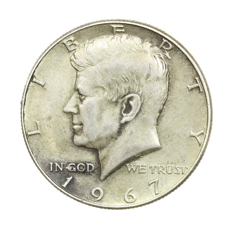 John- F. Kennedyhalber dollar lizenzfreie stockfotografie