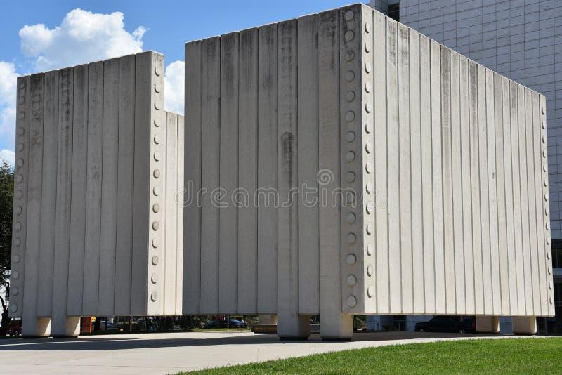 John Fitzgerald Kennedy Memorial à Dallas, le Texas images stock