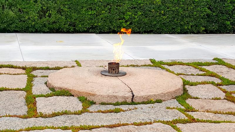 John Fitzgerald Kennedy Memorial Flame stock afbeelding