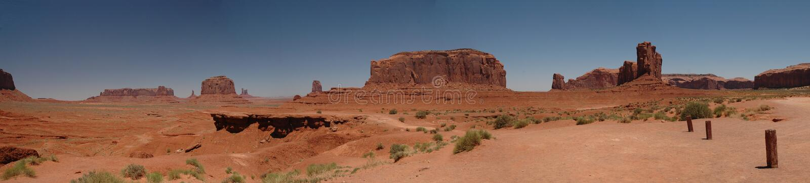 John Ford Point Monument Valley Panorama Stock Images