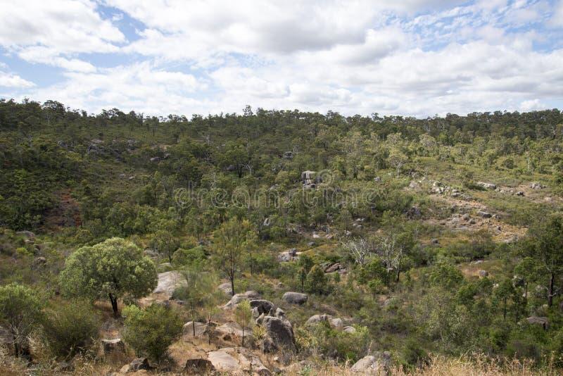 John Forrest National Park rocky landscape. Near Perth Hills, Western Australia royalty free stock photography