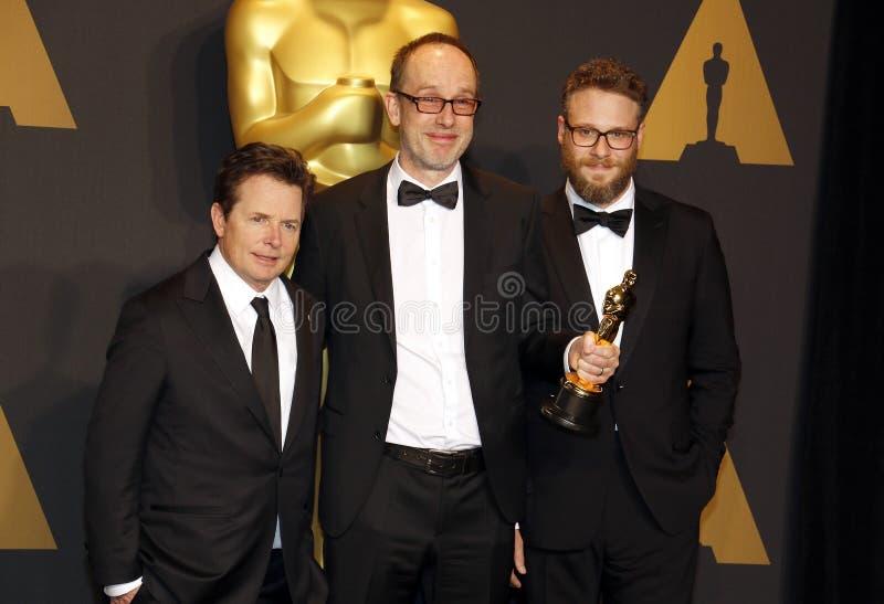 John Gilbert, Seth Rogen et Michael J renard images libres de droits