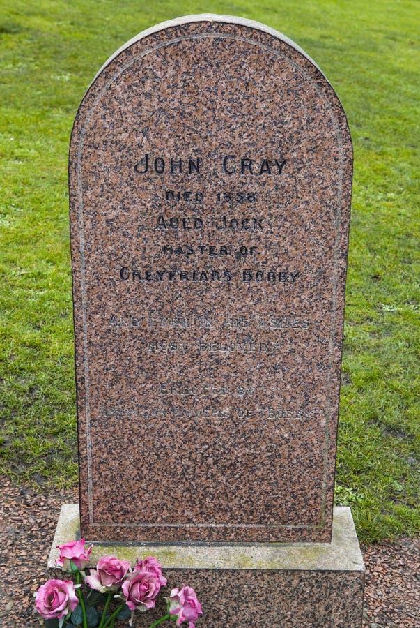 John Gray Grave en Edimburgo imagen de archivo