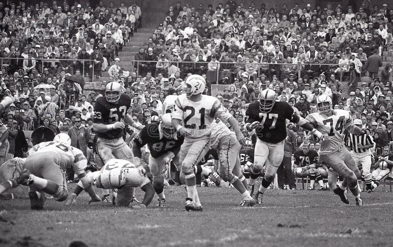 John Hadl QB del San Diego Chargers foto de archivo