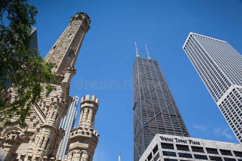 John Hancock Center in Chicago lizenzfreie stockbilder