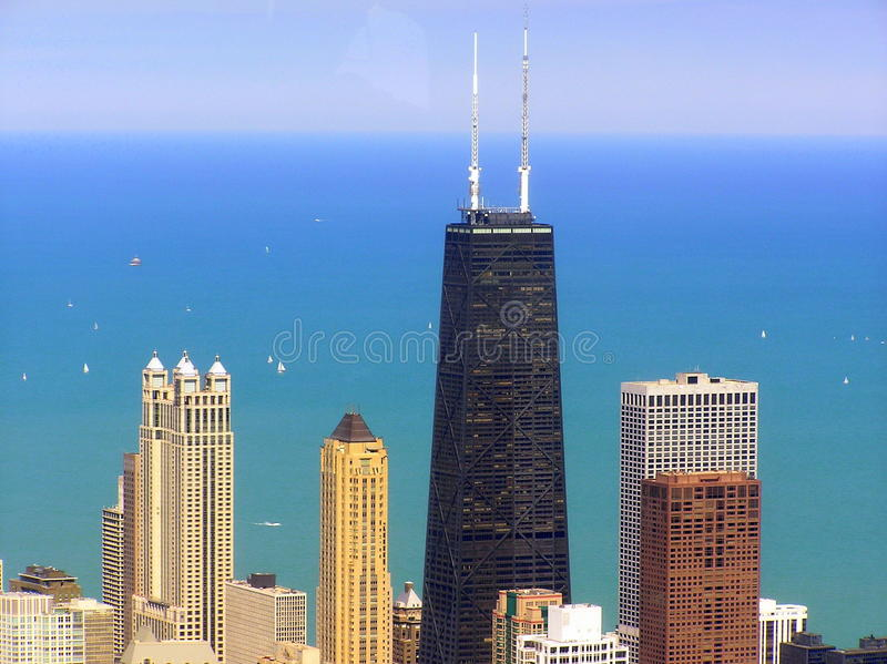 The John Hancock Center skyscraper in Chicago stock photo