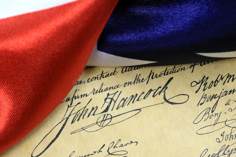 John Hancock's signature US constitution royalty free stock photography