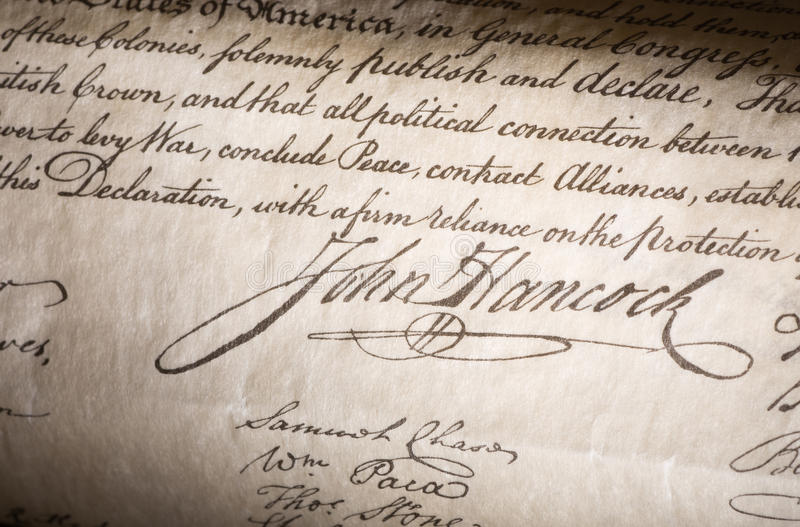 John Hancock Signature royalty free stock photo