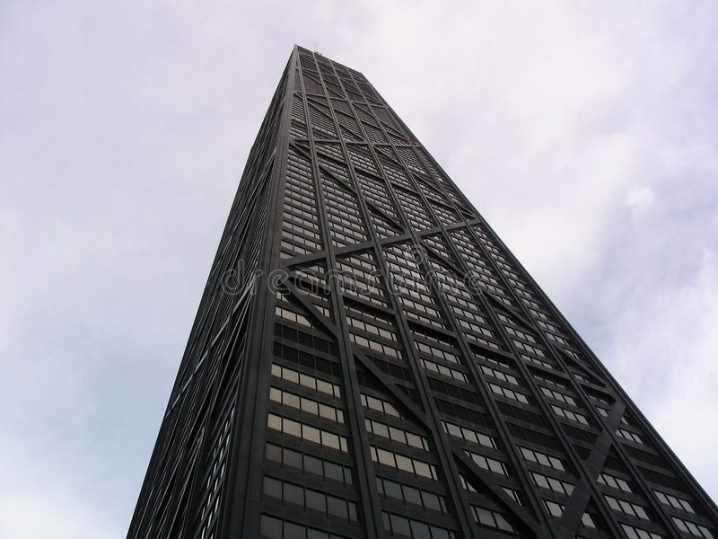 Download John Hancock Tower stock photo. Image of john, tower, illinois - 150112