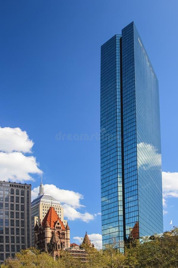 Free John Hancock Tower And Trinity Church In Boston Stock Photography - 116240182