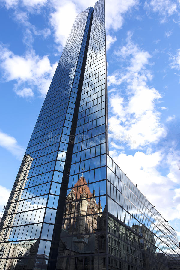 John Hancock Tower Skyscraper em Boston fotos de stock royalty free