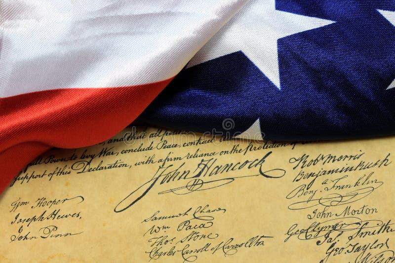 John Hancocks Unterzeichnung US-Konstitution lizenzfreie stockfotos