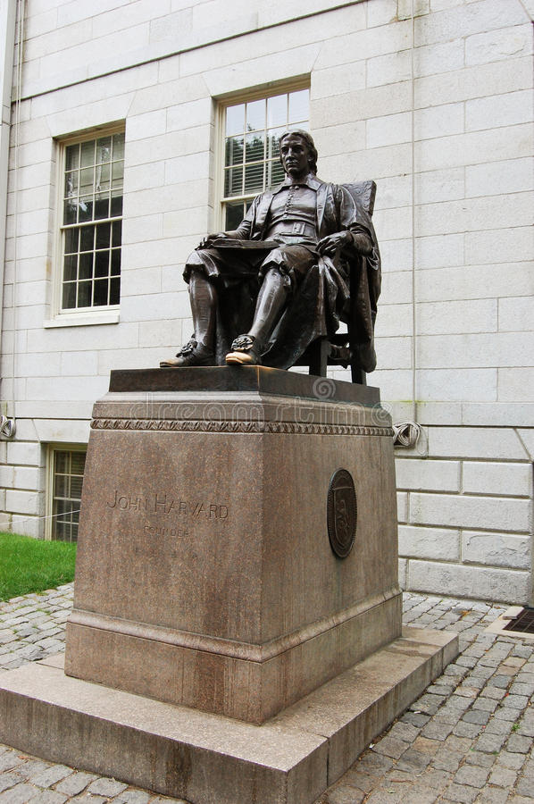 Download John Harvard statue stock image. Image of benefactor - 19341291