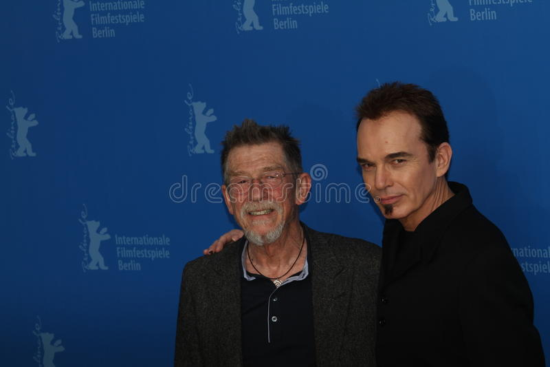 John Hurt en Billy Bob Thornton royalty-vrije stock afbeeldingen