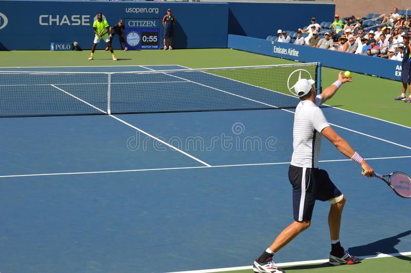 John Isner-US OPEN royalty-vrije stock foto