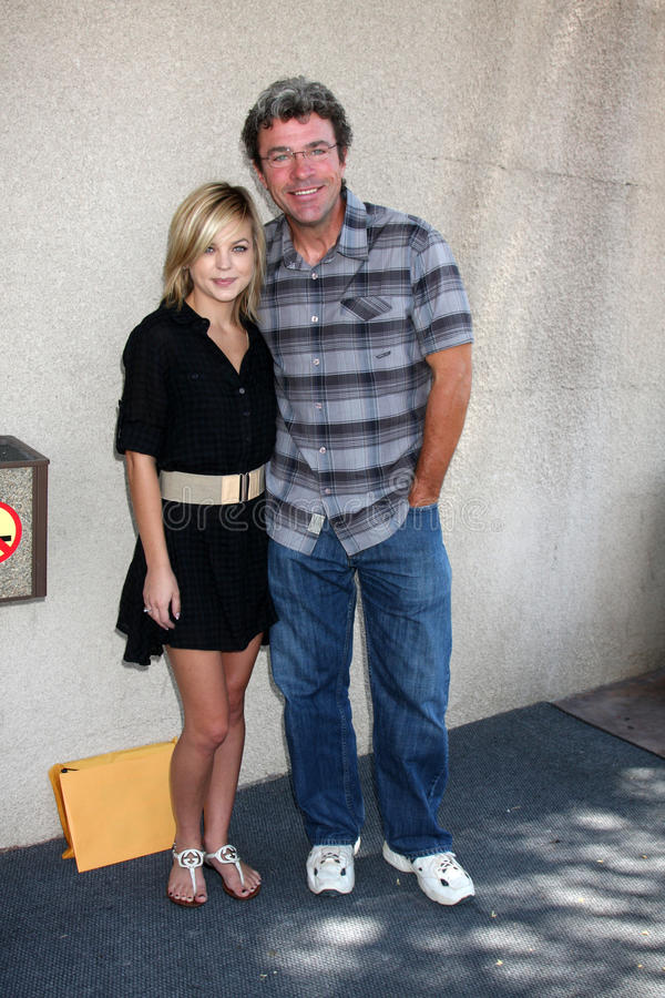 John J. York,Kirsten Storms. Kirsten Storms & John J. York arriving at the General Hospital Fan Club Luncheon at the Airtel Plaza Hotel in Van Nuys, CA on July stock images