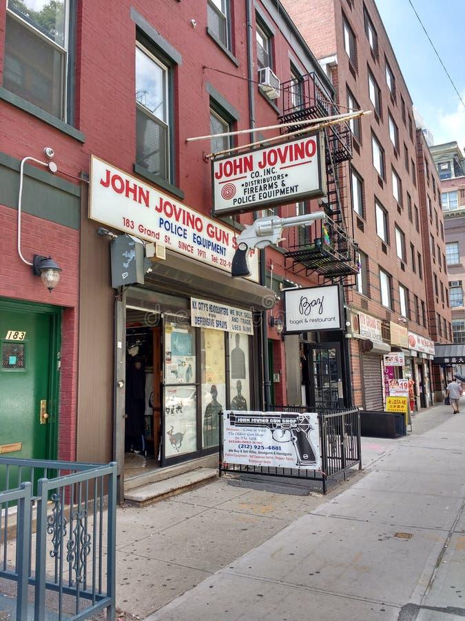 John Jovino Gun Shop, Firearms and Police Equipment, New York City, USA stock photos