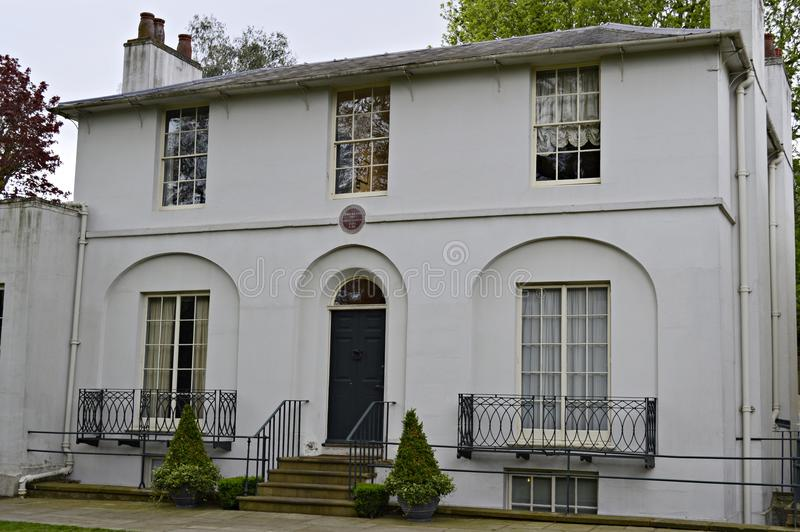 John Keats i Hampstead london UK royaltyfria foton