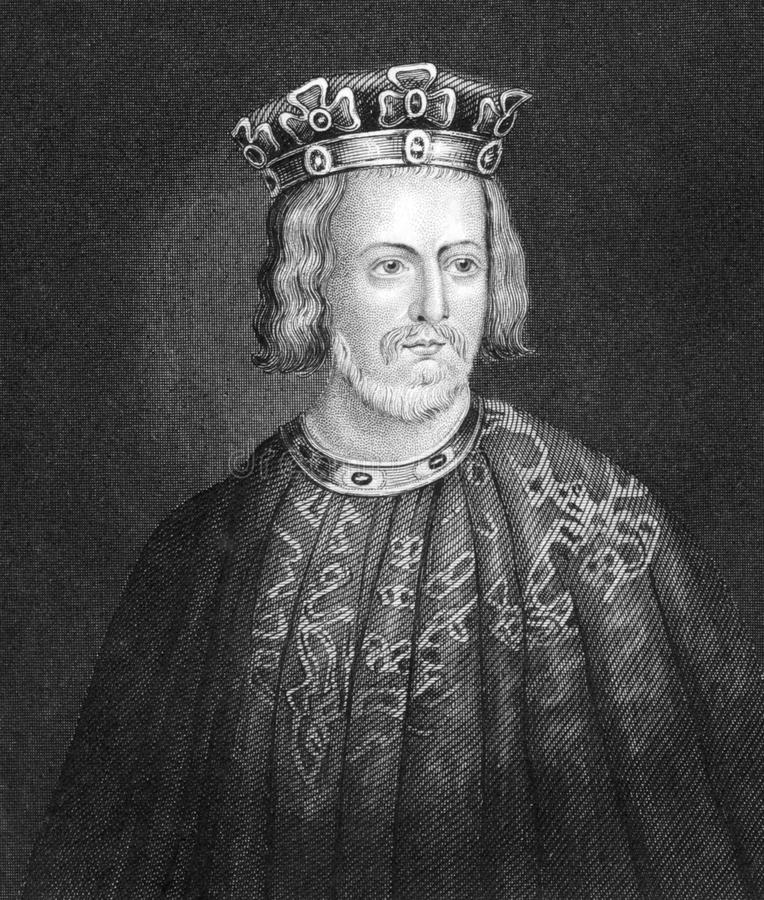 John King of England. (1166-1216) on engraving from 1830. King of England during 1199-1216. Published in London by Thomas Kelly stock image