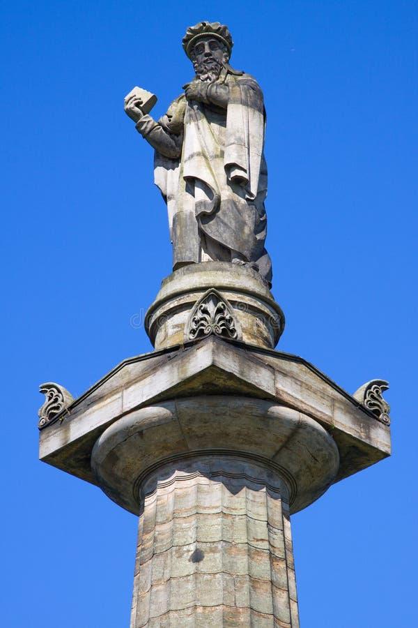 John Knox Monument, Necropolis, Glasgow royalty free stock image