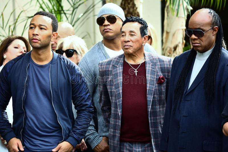 John Legend LL Koel J Smokey Robinson Stevie Wonder stock fotografie
