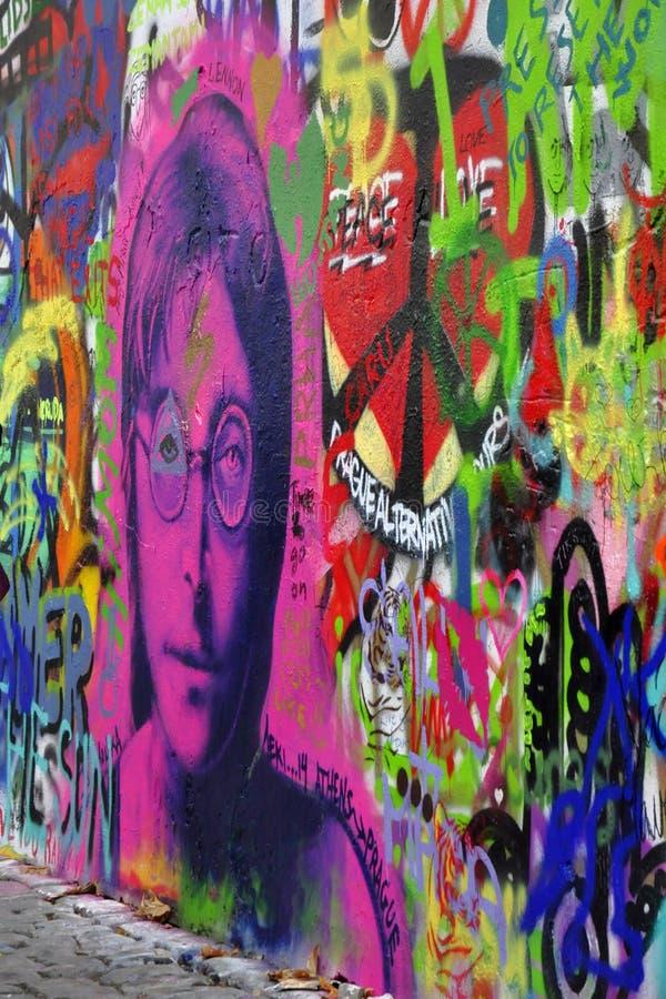 john lennon ściana zdjęcie royalty free